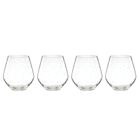larabee dot stemless wine set 4