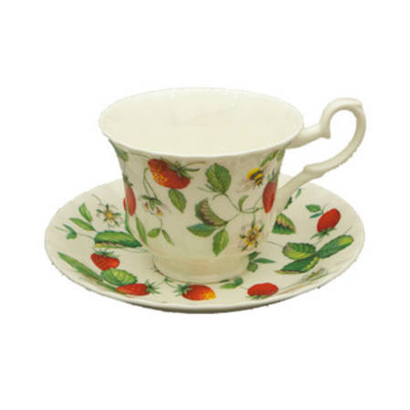 Alpine Strawberry Tea Cup & Saucer