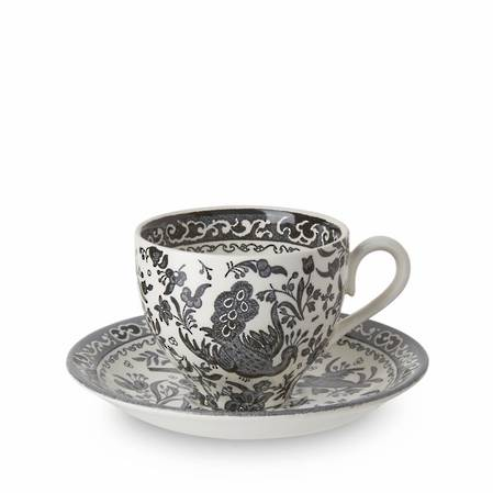 Black Regal Peacock Teacup