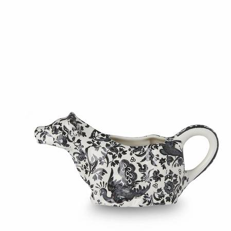 Black Regal Peacock Cow Creamer