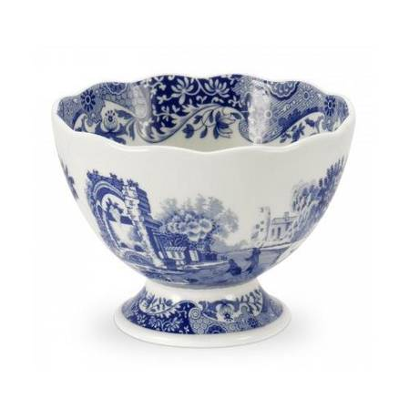 Blue Italian New Small Footed Dish