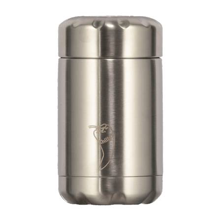 Chilly's Insulated Food Pot Silver 300ml