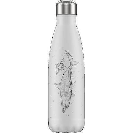 Chillys Insulated Bottle Shark White 500ml
