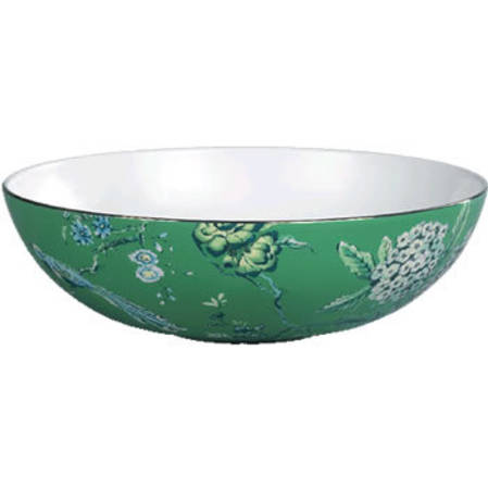 Chinoiserie Green Serving Bowl