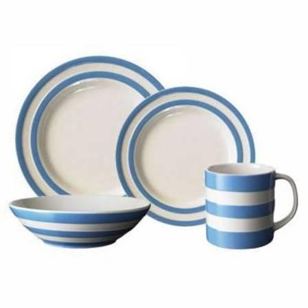 Cornish Blue Dinner Set 16 Piece with Mug