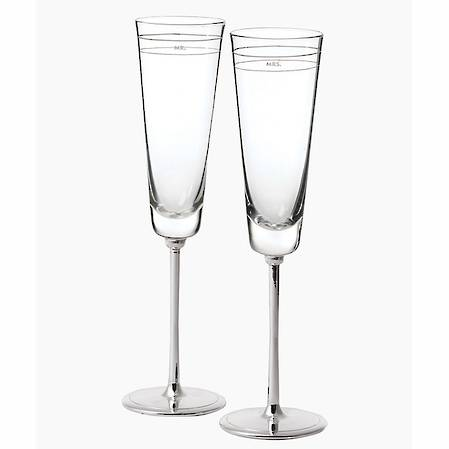 darling point toasting flute pair