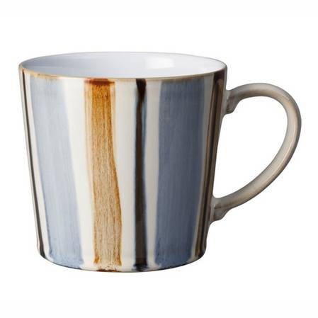 Denby Stripe Mug Brown