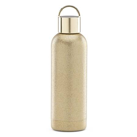 kate spade hydration gold glitter bottle