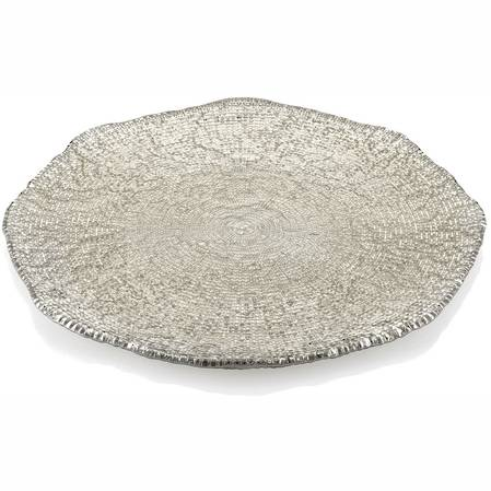 Diamante Beige/Chrome Platter 37cm