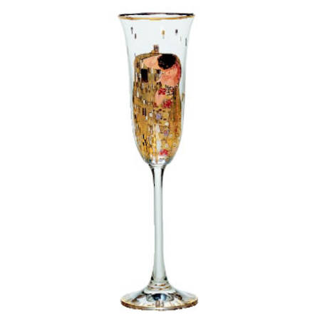 Klimt The Kiss Glass Flute