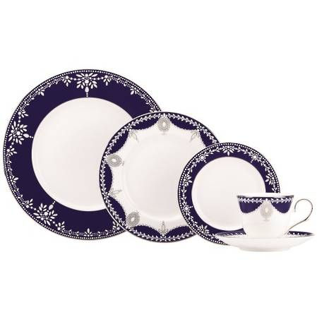 Empire Pearl Indigo Dinnerware Place Setting 5 Piece