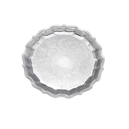Chippendale Silver Plate Embossed 35cm Tray