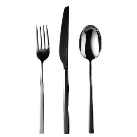 Linea Q PVD Black 58 Piece Cutlery Set