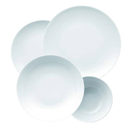Medallion White Dinnerset 16 Piece