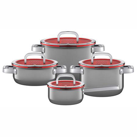 WMF Fusiontec Platinum 4 Piece Cookware Set