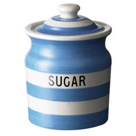 Cornish Blue Sugar Storage Jar