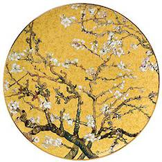 Van Gogh Almond Tree Gold Plate