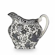 Black Regal Peacock Cream Jug