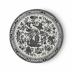 Black Regal Peacock Tea Plate