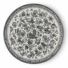 Black Regal Peacock Dinner Plate