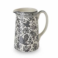 Black Regal Peacock Tankard Jug Medium