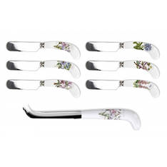 Botanic Garden Cheese Knife & 6 Spreaders