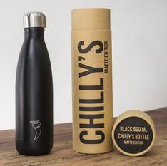 Chilly's Insulated Bottle Black 500ml
