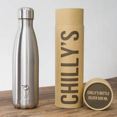 Chilly's Insulated Bottle Silver 500ml