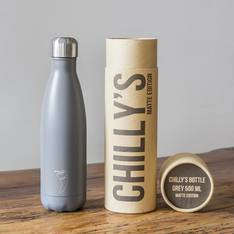 Chilly's Insulated Bottle Matte Grey 500ml