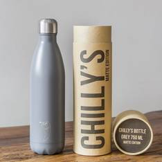Chilly's Insulated Bottle Matte Grey 750ml