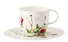 Fleurs Sauvages Tall Cup and Saucer