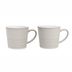 Canvas Textured Mug Pair