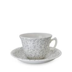 Dove Grey Felicity Tea Cup & Saucer