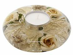 Dreamlight Gold Rose UFO Tealight