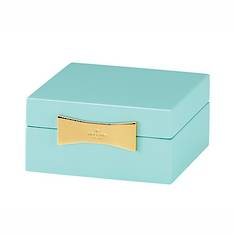 garden drive square jewellery box turquoise