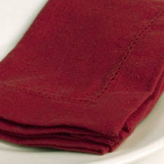 Hemstitch Napkin Red
