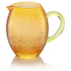 Multicolour Pitcher Jug Amber & Green 1.5L