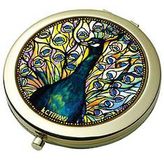 Peacock - Tiffany Pocket Mirror