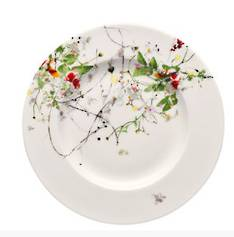 Fleurs Sauvages Rimmed B&B Plate