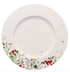 Fleurs Sauvages Rimmed Dinner Plate