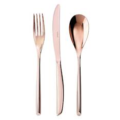 Bamboo PVD Copper 24 Piece Cutlery Set