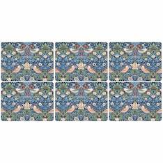 Strawberry Thief Blue Placemat Set of 6