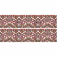 Strawberry Thief Red Placemat Set of 6