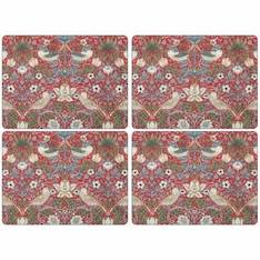 Strawberry Thief Red Tablemat Set of 4