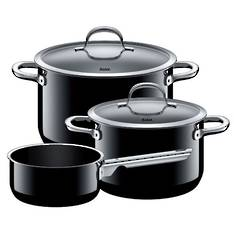 Passion Black 3 Piece Cookware Set