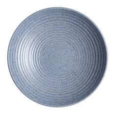 Studio Blue Flint Medium Ridged Bowl