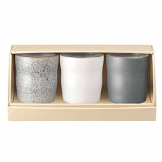 Studio Grey Handleless Mug Mixed Set of 3