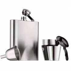 Manhattan Hip Flask Set 3 Piece