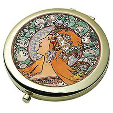 Zodiac - Mucha Pocket Mirror