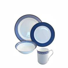 Aston Blue Dinner Set 16 Piece